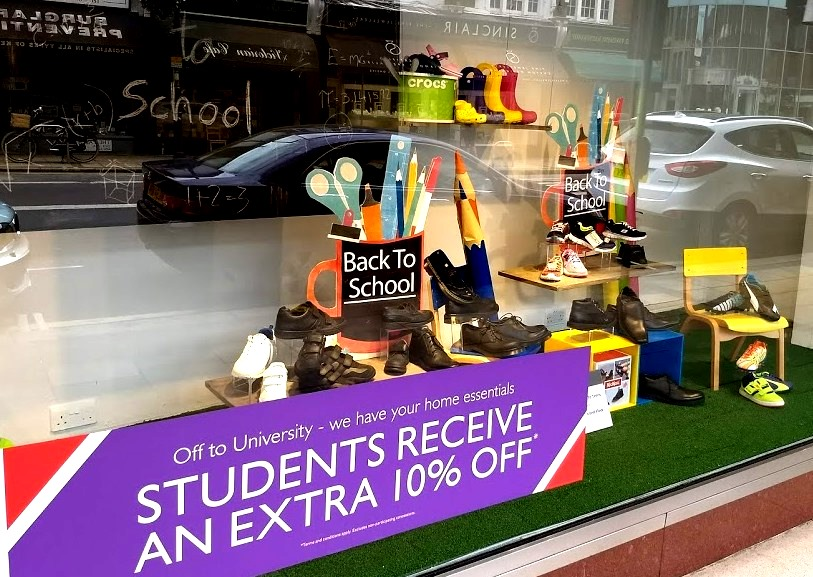 f822e58f9161 Head to Elys department store for a great selection of back to school and  sports shoes. Students receive an extra 10% off in store