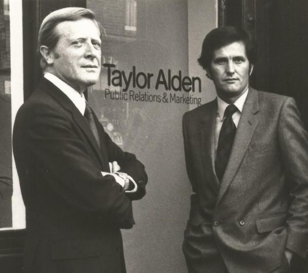 The late Sir Geoffrey Johnson-Smith MP (left) and Brian Corthine, Taylor Alden