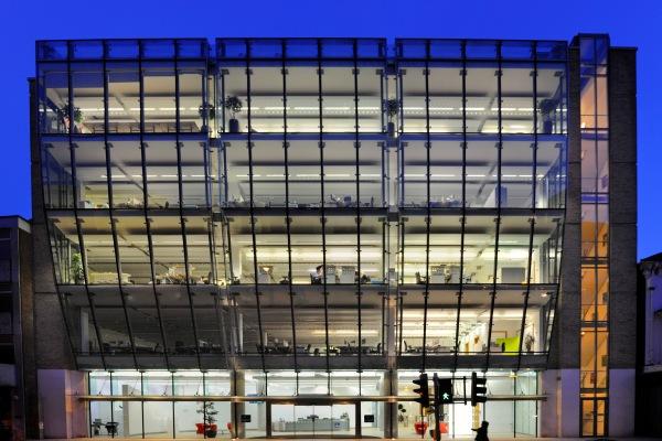 CIPD office building light at night