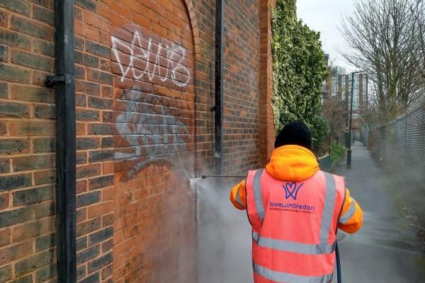 Graffiti removal in Wimbledon