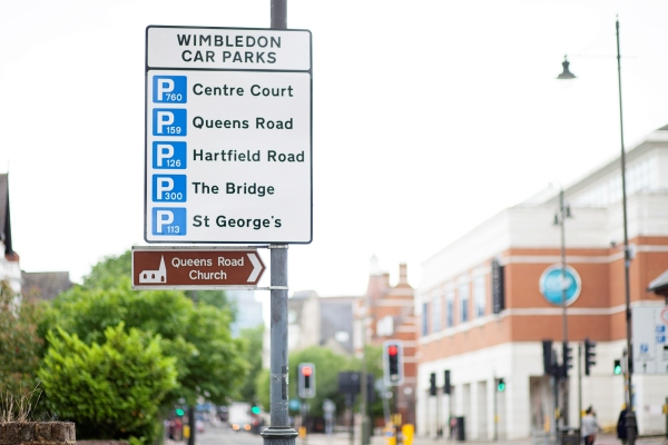 Parking Signage in Wimbledon Town Centre