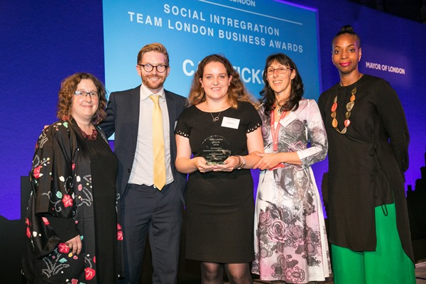 Capsticks Wins Team London Volunteer Award