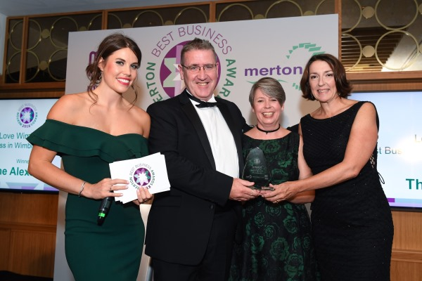 The Alexandra wins at Merton Best Business Awards 2018