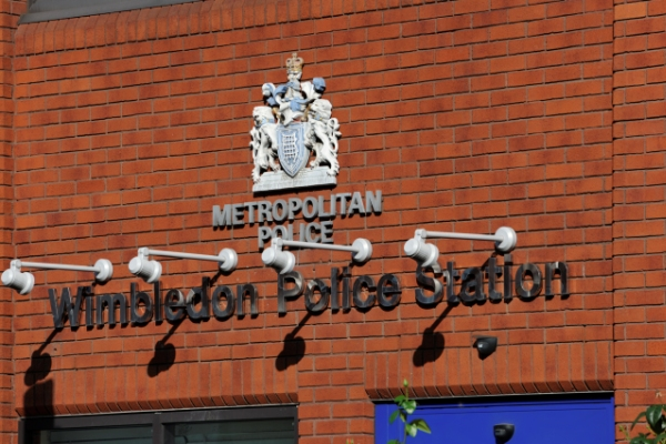 Wimbledon Police Station Sign