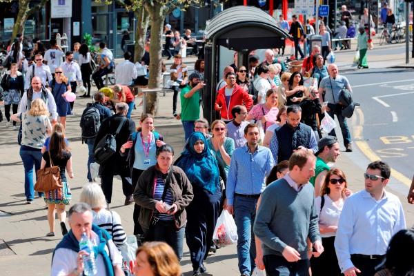 Bustling Wimbledon Town Centre
