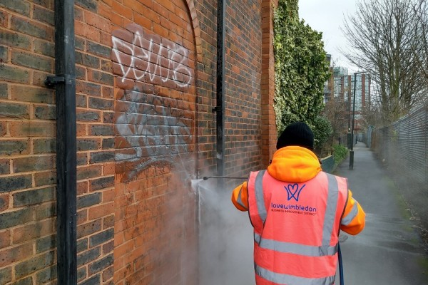 Graffiti removal in Wimbledon
