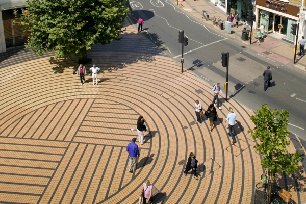 The Piazza Area in Wimbledon Town Centre