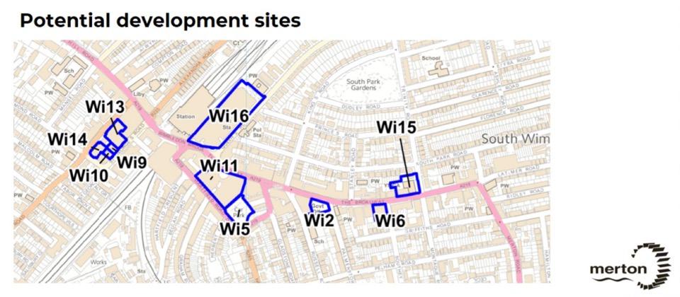 Potential Development Sites in Wimbledon