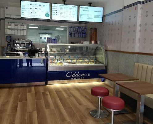 Oddonos gelati shop in wimbledon